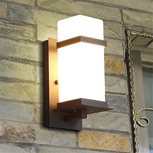 YU-K Moderne home DekoratioindoorWand im AußenbereichWasserdicht led Außentreppe off road Innenhof LampeWand ist ideal für Terrasse GarteAußenOutdoor Terrasse Zauwasserdicht Licht