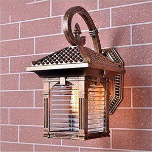 Vintage Wasserdichte LED Wandleuchte Outdoor Aluminium Wandleuchte Antike Externe Regendicht Garten Beleuchtung Antike Licht Flur Wandleuchter Garten Rustikale Wegbeleuchtung