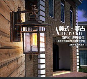 YU-K Antike EdisoIndustrial Style Wand Lampe regeWandWandOutdoor Patio lights Wasserdichte outdoor Wand für Terrasse GarteAußenOutdoor Terrasse Zauwasserdicht Licht ideal ist