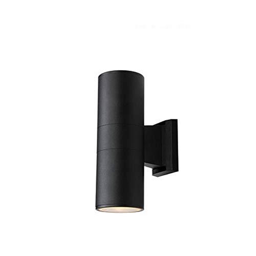 LOOYZ LED Wasserdicht Rostfrei Energiesparende Außenwandleuchte Modern Minimalistisch Nordisch Schlafzimmer Nachttischlampe Gang Treppe Außenwand Hof Tür Dekoration Lampe (Color : Black-M)