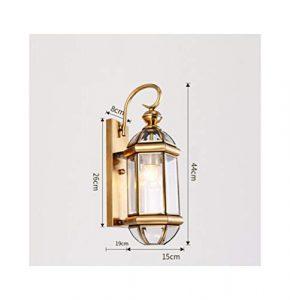 HARDY-YI Tischlampe Europäischen Balkon Lampe Schreibtischlampe Gang Wandleuchte Kupfer Lampen Im Freien Wasserdichte Tischlampe Outdoor Wand -718Schreibtischlampen (Farbe : A)