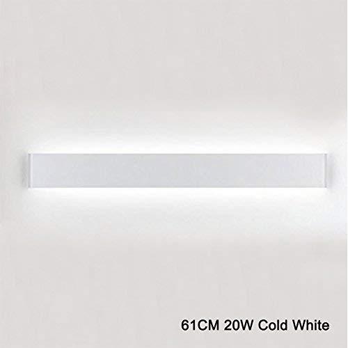 K-Bright LED Wandleuchte Spiegellampe Weiß Wandlampe,20W,61CM Up und Down LED Wandbeleuchtung,IP 44,Abstrahlwinkel 120°,Kaltes Weiß