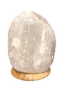 SudoreWell® Halit Salzkristall Lampe Salzlampe weiß Natur 2-3 kg