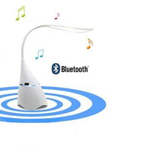 Tischlampe Lautsprecher, Bluetooth-Lautsprecher + Nachttischlampe, Nachtlicht, tragbare drahtlose Lautsprecher, LED-Lampe Unterstützung Handy U Disk Tf-Karte für Schlafzimmer Wohnzimmer