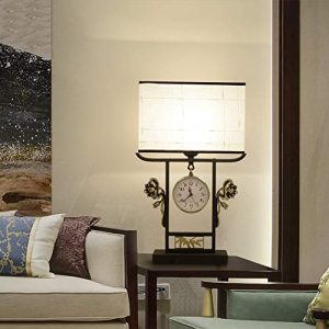 Pengpeng Nachttischlampe, zeitgenössische Nachttischlampe, Schwarze Metalltischlampe mit Stoffschirm für Wohnzimmer, Schlafzimmer, Büro, Studentenwohnheim, Couchtisch