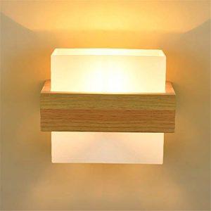 RREN-WALL LAMP Kreative Massivholz Wandleuchte Modernen Minimalistischen Wohnzimmer Gang Balkon Lampe LED Holz Kunst Schlafzimmer Nachttischlampen Japanischen Stil Lampen (Birne Enthalten)