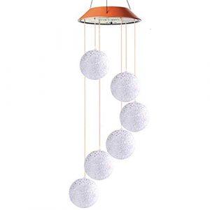 Sulifor Solar Windspiel Licht LED Licht Garten Hänge Drehlicht Farbwechsel Party Dekoration Licht, Innenbeleuchtung