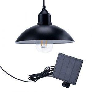 Jolicobo Solarlampen Solar Hängeleuchte mit Fernbedienung Hängelampe mit Solarpanel und Zugschalter für Außen