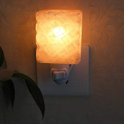 WHKHY Ort der Kiefer Apple Wandlampe, 300G Salz Himalaya Jingle 6,5 * 5Cm Rosa Kristall Salz Lampe Nachtlicht Geburtstagsgeschenk,6,5 * 5 cm