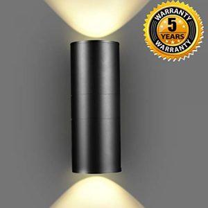 LED Wandleuchte 20W Wandlampe Warmweiß 3000K Up & Down Aluminium Modern IP65 Gartenlampe Innen / Aussen Wasserdicht Wandbeleuchtung,5 Jahre Garantie