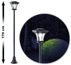 Royal Gardineer LED Gartenleuchte: Solar-LED-Gartenlaterne SWL-20, 0,18 Watt, 12 Lumen, IP44, 170 cm hoch (Solar Wegleuchte)