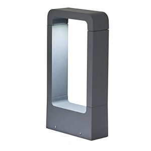 Topmo-plus Stehleuchte außenleuchte/ 7W LED bridgelux COB Wegeleuchte Aluminium LED wegelampe Gartenleuchte IP65 Terasse/Garten/Korridor/Flurbeleuchtung 770LM 6000K (30CM Grau/kaltweiß)