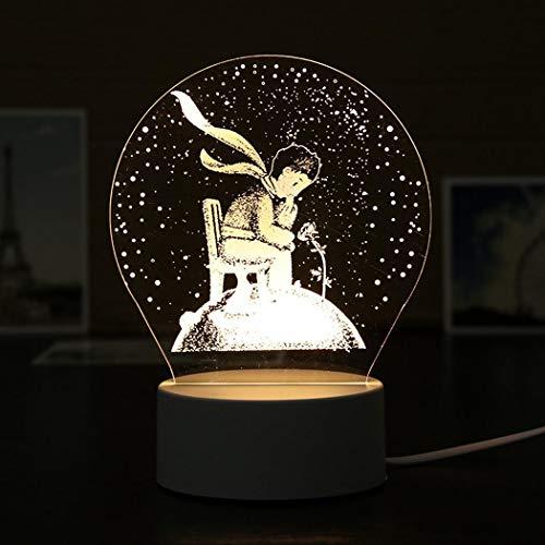 amilses LED 3D Nachtlichter Kreatives Home Bars Nachtlicht Tisch Nachttischlampe Geschenk