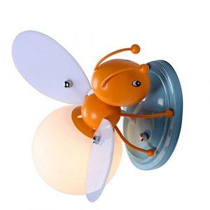 Industrie Retro Wandleuchte Lampen Landhausstil für Landhaus Schlafzimmer Wohnzimmer Esstisch LED Kinder Wandleuchte Biene Wandlampe Jungen Mädchen Nachttischlampe Kinderzimmer Dekoration SjyLights