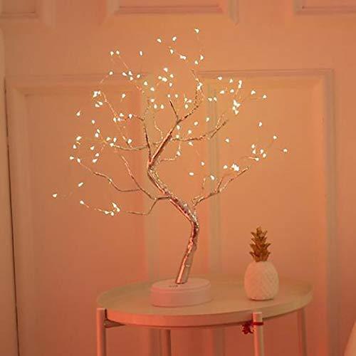 kaimus LED Starry Lichterketten Pearl Tree Tischlampe Schlafzimmer Party Home Decoration Tisch- & Nachttischlampen