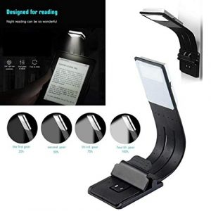 Fantiff Mini Portable USB aufladbare Faltbare LED Leselampe Lesezeichen Licht Schreibtischlampen