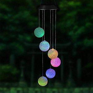 Fun-Diamond Solarbetriebene LED-Windspiel Solarbetriebene Farbwechsel Windspiel-Licht für Outdoor Indoor Home Yard Garten Dekoration
