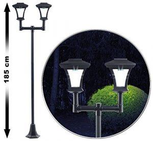 Royal Gardineer Gartenlampe: 2-flammige Solar-LED-Gartenlaterne, SWL-25, 0,36 W, 24 lm, 185 cm hoch (Laterne Solar)