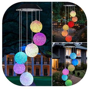 About1988 Solarbetriebenes LED-Windspiel,Solarbetriebene Windspiele Licht LED Garten hängen Spinner Lampe Farbwechsel,Lichterkette/Light/Tischlampe/Nachttischlampe/Nachtlicht (Mehrfarbig)