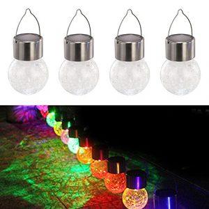 4Solar hängenden Kugel Licht LED Leuchtmittel Beleuchtung Outdoor Garden Party Dekoratives Licht