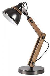 Tischleuchte Aksel aus Holz Metall Buche/schwarz Ø16cm B:28cm H:47,5cm mit Schalter