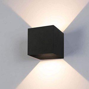 12W Wandleuchte LED Innen/Außen 2800-3000K Warmweiß Wandlampe LED Außenwandleuchte mit Einstellbar Abstrahlwinkel IP65 Wasserdichte 750lm …