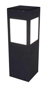 Wegeleuchte mit Bewegungsmelder Solar Solarlampen für Außen Solarleuchte Garten (Außenlampe, LED, Standleuchte, Alu, Schwarz, 40 cm)