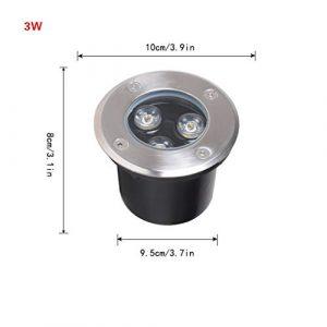 LED Bodeneinbaustrahler,Wasserdichtes IP65 Edelstahl-Stehlampen-Schritt-Licht Im Freien Für Quadratischen Hof (Color : Colorful light-3W)