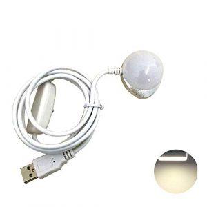 Vektenxi USB Powered 5V LED Nachtlicht Magnet Wohnheim Schreibtischlampe Lesen Deckenlampe Mit Schalter Warmes Licht * Hohe Qualität