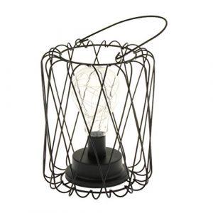 Homyl 2 Außen, mit LED-Kerze, kabellos, tragbar, batteriebetrieben, für Club, Büro, Küche, Schlafzimmer, Wohnzimmer, Ca, Eisen, Schwarz, 2