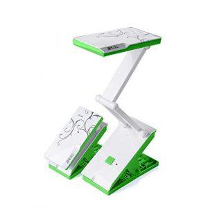 VROSE FLOSI Schreibtischlampe LED Tischlampe, Faltbare gebührenpflichtige Schreibtisch-Lampen-Augen-Schutz-Laterne DP 682 für gelesenes (Grün)