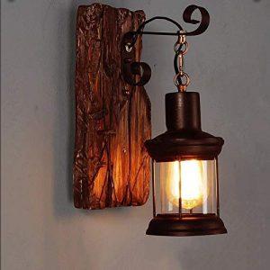 FNCUR Rural Style Wandleuchte Schlafzimmer Nachttischlampe Kreativität Persönlichkeit Vintage Industrie Wind Gang Schiff Holz Wandleuchte Wandleuchte Wandlaterne