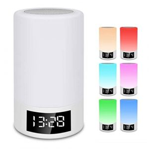 Abazq Nachttischlampe Touch nachtlicht Bluetooth Lautsprecher licht RGB 7 Farbe Beleuchtung tragbare led kleine tischlampe Kinder