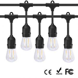 LED Lampe E27 Retro Led Bulb 2W Ersetzt 20W Halogen Vintage Glühbirne 2200K Warmweiß S14 Edison Birne für E27 Fassung Lichterkette Pendelleuchte Hängelleuchte Hängelampe 10 Pack