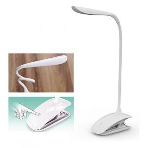LED Klemmleuchte Leselampe Tischlampe Schreibtischlampe Buch Lampe Licht Light Augenschutz Weiß Clip-On