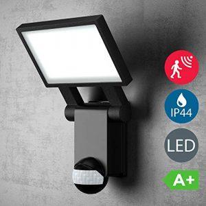 B.K.Licht LED Außenleuchte – Außenlampe mit Bewegungsmelder & Dämmerungssensor – Mit Dauerlicht-Funktion – Ideal für draußen oder Feuchträume – 20W, 2000 Lumen – 4000K neutralweiß