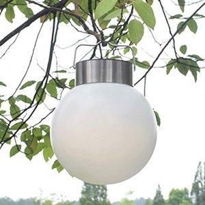 LED Kugel Solar Leuchte Hängeleuchte, IP65 Waterproof, Garten Deko Solarleuchte Gartenleuchte Hängelampe für Outdoor Garden Camping Hanging
