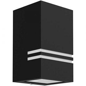 Wandleuchte JOVO-S für außen in matt schwarz 230V – up oder down Wandlampe mit Wasserschutz IP44 für 1x GU10 Leuchtmittel