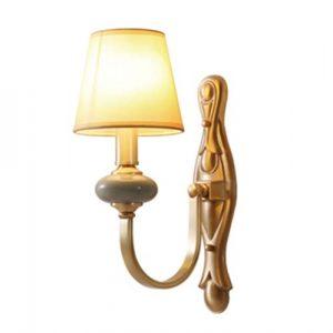 AYANJINGAmerikanische kupfer-keramik wandleuchte schlafzimmer nachttischlampe wohnzimmer flur wandleuchten