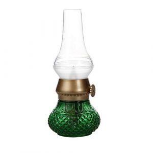 Kylewo LED Tischlampe Retro Vintage Laterne Blow LED Nostalgie Licht Romantisch Atmosphäre Nachttischlampe Stimmungslicht Kreative Kerosin Öl Lampe