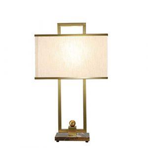 JGHR Moderne amerikanische Marmor Tischlampe Nordic Luxury Atmospheric Stoff Nachttischlampe Handgefertigte fest und zuverlässig für Wohnzimmer, Schlafzimmer