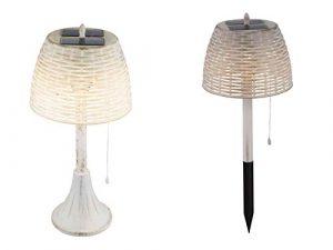 Solarleuchte Garten für Außen Deko Gartendeko Tischlampe Solarlampe Gartenlampen Solar (Erdspieß, Dekoleuchte, LED, Höhe 60 cm, Tischleuchte)