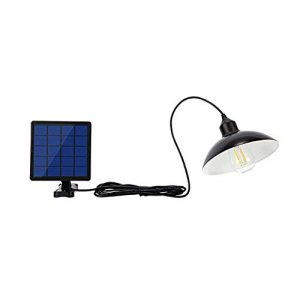 ONEVER Solarstraßenlaterne, EINMAL 30W Retro-Solar-LED-Lampe Hängeleuchten Wasserdichte Pendelleuchte Lampe Flutlicht für Outdoor-Straße Garten Hof Garage Pathway Pool Deck