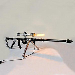 XXQ Schreibtischlampe, Moderne Full Metal Sniper Rifle Wasserpfeife Lampe, Lampe Dekoration Licht