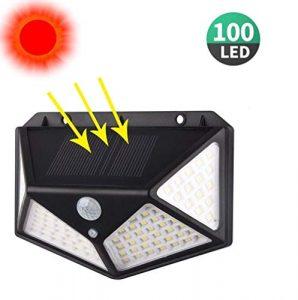 Gardef Solarlampen for Außen, Draussen AufgerüstetSolar Terrasse Bewegungssensor Sicherheitslichter Wasserdicht Menschlicher Körper Induktions Solarleuchten (Size : 100LED)