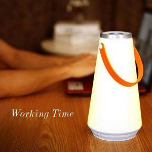 Augproveshak USB Wiederaufladbare LED Camping Lampe Draußen Laternen Hängelampe, Home LED Tischlampe, Nachtlicht, Nachttischlampe Touch Dimmbar