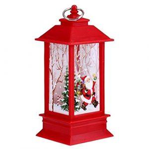 loikero123 Mini Dekorative Tischlampe Kreative Druck Lichter Weihnachten Kerzenständer Dekoratio Tisch- & Nachttischlampen