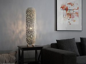 Beliani Stehlampe Creme/Gold 60 cm Mures