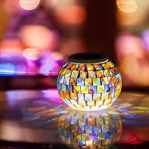 Gearmax® Solar Lampen Weihnachtsleuchten Gartenleuchten Gartenlampen,Farbe Wechselndene Schöne Nachtlicht Leuchtmittel, Beste Tischlampen für Schlafzimmer, Party, Garden, Terrasse, Höfen
