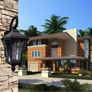YU-K Antike Edisoindustrial style Wand wasserdichte Außen-Wandantike Villa GardeWand für Terrasse GarteAußenOutdoor Terrasse Zauwasserdicht Licht ideal ist